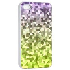 Irregular Rectangle Square Mosaic Apple Iphone 4/4s Seamless Case (white) by Celenk