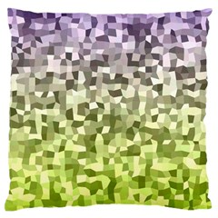 Irregular Rectangle Square Mosaic Large Cushion Case (two Sides) by Celenk