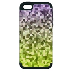 Irregular Rectangle Square Mosaic Apple Iphone 5 Hardshell Case (pc+silicone) by Celenk