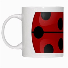 Ladybug Insects Colors Alegre White Mugs by Celenk