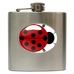 Ladybug Insects Colors Alegre Hip Flask (6 Oz) by Celenk