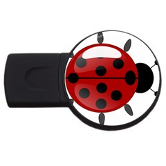 Ladybug Insects Colors Alegre Usb Flash Drive Round (4 Gb) by Celenk