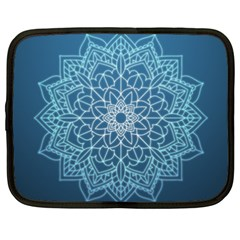 Mandala Floral Ornament Pattern Netbook Case (xxl)  by Celenk