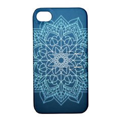 Mandala Floral Ornament Pattern Apple Iphone 4/4s Hardshell Case With Stand by Celenk