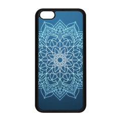 Mandala Floral Ornament Pattern Apple Iphone 5c Seamless Case (black) by Celenk