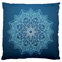 Mandala Floral Ornament Pattern Large Flano Cushion Case (one Side) by Celenk