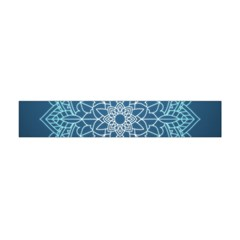 Mandala Floral Ornament Pattern Flano Scarf (mini) by Celenk