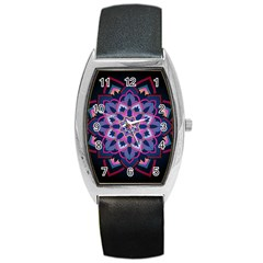 Mandala Circular Pattern Barrel Style Metal Watch by Celenk