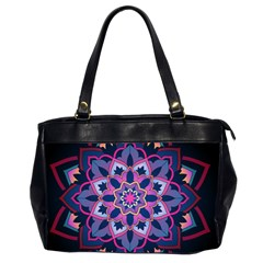 Mandala Circular Pattern Office Handbags (2 Sides)  by Celenk