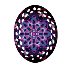 Mandala Circular Pattern Ornament (oval Filigree) by Celenk