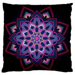 Mandala Circular Pattern Large Flano Cushion Case (one Side) by Celenk