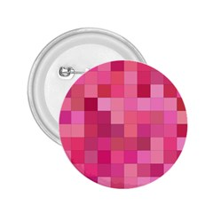 Pink Square Background Color Mosaic 2 25  Buttons by Celenk