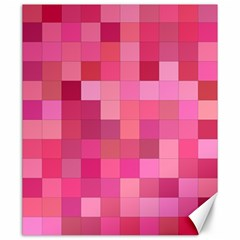 Pink Square Background Color Mosaic Canvas 20  X 24   by Celenk