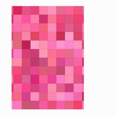 Pink Square Background Color Mosaic Large Garden Flag (two Sides) by Celenk