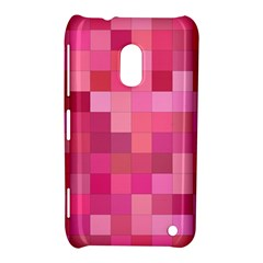 Pink Square Background Color Mosaic Nokia Lumia 620 by Celenk