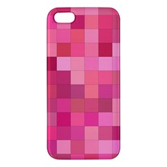 Pink Square Background Color Mosaic Iphone 5s/ Se Premium Hardshell Case by Celenk