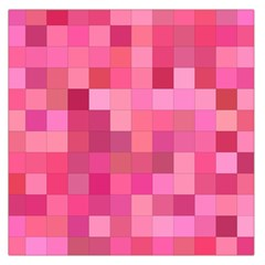 Pink Square Background Color Mosaic Large Satin Scarf (square) by Celenk