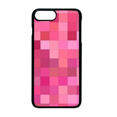 Pink Square Background Color Mosaic Apple Iphone 7 Plus Seamless Case (black)