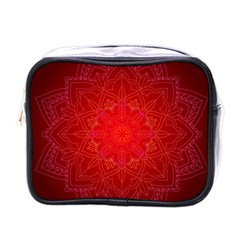 Mandala Ornament Floral Pattern Mini Toiletries Bags by Celenk