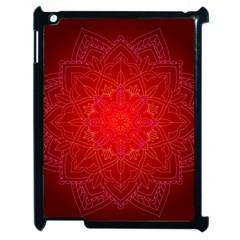 Mandala Ornament Floral Pattern Apple Ipad 2 Case (black) by Celenk