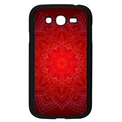 Mandala Ornament Floral Pattern Samsung Galaxy Grand Duos I9082 Case (black) by Celenk
