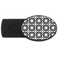 Pattern Seamless Monochrome Usb Flash Drive Oval (2 Gb) by Celenk