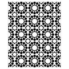 Pattern Seamless Monochrome Drawstring Bag (small) by Celenk