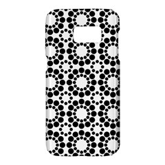 Pattern Seamless Monochrome Samsung Galaxy S7 Hardshell Case  by Celenk