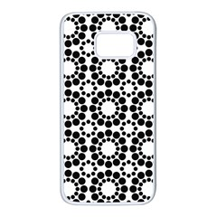 Pattern Seamless Monochrome Samsung Galaxy S7 White Seamless Case