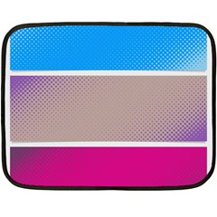 Pattern Template Banner Background Fleece Blanket (mini) by Celenk