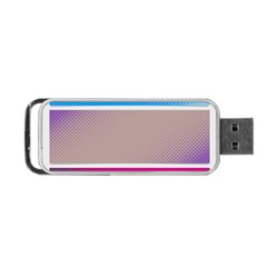 Pattern Template Banner Background Portable Usb Flash (two Sides) by Celenk