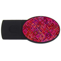 Pattern Background Square Modern Usb Flash Drive Oval (4 Gb) by Celenk