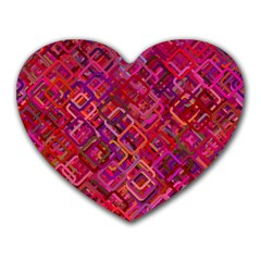 Pattern Background Square Modern Heart Mousepads by Celenk