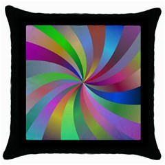 Spiral Background Design Swirl Throw Pillow Case (black) by Celenk