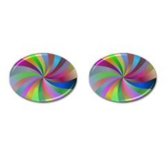 Spiral Background Design Swirl Cufflinks (oval) by Celenk