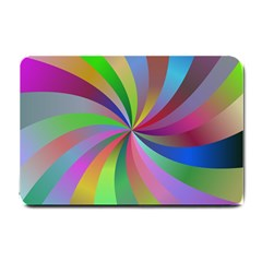 Spiral Background Design Swirl Small Doormat  by Celenk