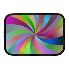 Spiral Background Design Swirl Netbook Case (medium)  by Celenk