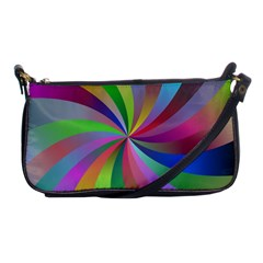 Spiral Background Design Swirl Shoulder Clutch Bags by Celenk