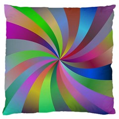 Spiral Background Design Swirl Large Cushion Case (one Side) by Celenk