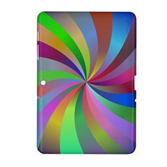 Spiral Background Design Swirl Samsung Galaxy Tab 2 (10 1 ) P5100 Hardshell Case  by Celenk