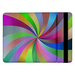 Spiral Background Design Swirl Samsung Galaxy Tab Pro 12 2  Flip Case by Celenk