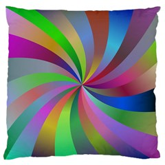 Spiral Background Design Swirl Standard Flano Cushion Case (one Side) by Celenk