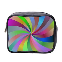 Spiral Background Design Swirl Mini Toiletries Bag 2 Side by Celenk