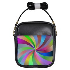 Spiral Background Design Swirl Girls Sling Bags by Celenk