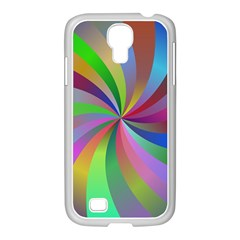 Spiral Background Design Swirl Samsung Galaxy S4 I9500/ I9505 Case (white) by Celenk