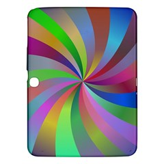Spiral Background Design Swirl Samsung Galaxy Tab 3 (10 1 ) P5200 Hardshell Case  by Celenk