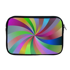 Spiral Background Design Swirl Apple Macbook Pro 17  Zipper Case by Celenk