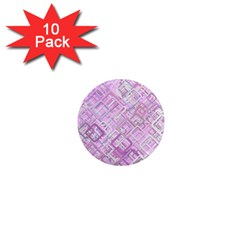 Pink Modern Background Square 1  Mini Magnet (10 Pack)  by Celenk