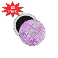 Pink Modern Background Square 1 75  Magnets (100 Pack)  by Celenk