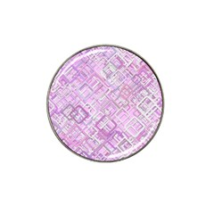 Pink Modern Background Square Hat Clip Ball Marker (10 Pack) by Celenk